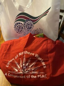 Bags (PSAC North logo and UNW logo)